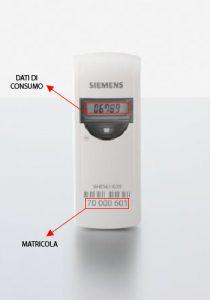 lettura contabilizzatore di calore siemens